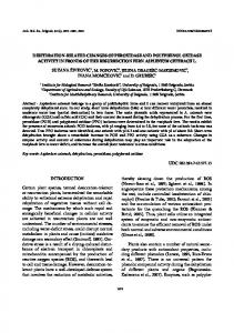 dehydration-related changes of peroxidase and ... - CiteSeerX