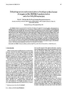 Dehydrogenation and aromatization of methane in the ... - Springer Link