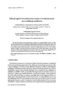 Dehydrogenation and aromatization of methane under ... - Springer Link