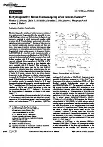 Dehydrogenative Boron Homocoupling of an ...