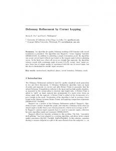 Delaunay Refinement by Corner Lopping - International Meshing ...