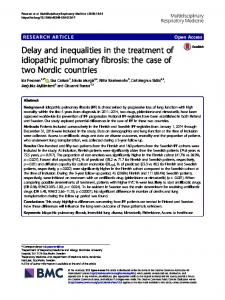 Delay and inequalities in the treatment of idiopathic pulmonary fibrosis ...