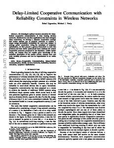 Delay-Limited Cooperative Communication with ... - Semantic Scholar
