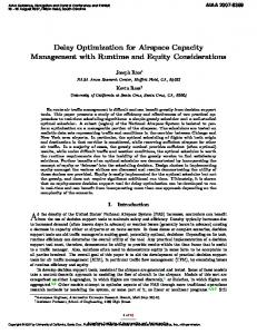 Delay Optimization for Airspace Capacity Management ... - CiteSeerX