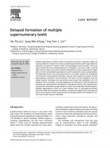 Delayed formation of multiple supernumerary teeth - Core