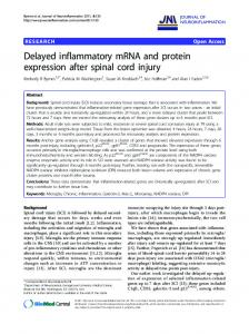 Delayed inflammatory mRNA and protein expression ... - BioMedSearch
