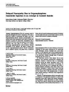 Delayed Neuropathy Due to Organophosphate Insecticide Injection in ...