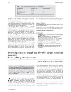 Delayed postanoxic encephalopathy after carbon monoxide poisoning