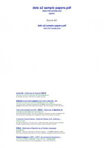 dele a2 sample papers - Bing - Just PDF | Just PDF site