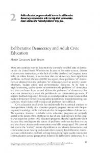 Deliberative democracy and adult civic education - Wiley Online Library