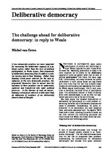 Deliberative democracy - National Coalition for Dialogue and ...