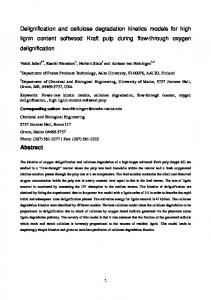 Delignification and cellulose degradation kinetics ...