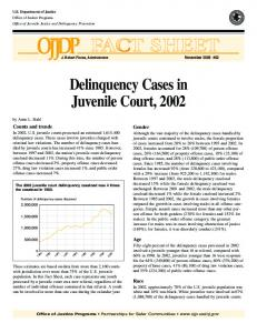 Delinquency Cases in Juvenile Court, 2002 - NCJRS