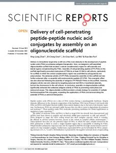 Delivery of cell-penetrating peptide-peptide