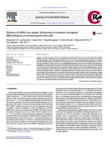 Delivery of siRNA via cationic Sterosomes to enhance ...