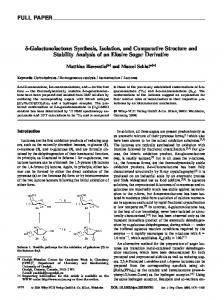[delta]-Galactonolactone: Synthesis, Isolation, and