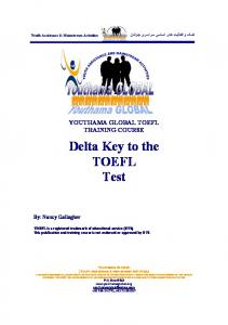 Delta Key to the TOEFL Test