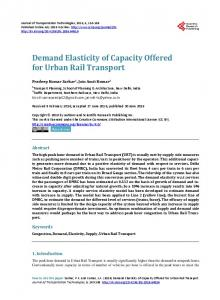 Demand Elasticity of Capacity Offered for Urban Rail Transport