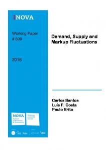 Demand, Supply and Markup Fluctuations - Editorial Express