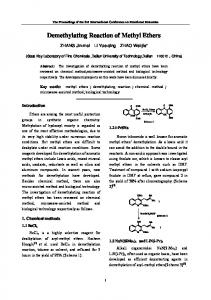 Demethylating Reaction of Methyl Ethers