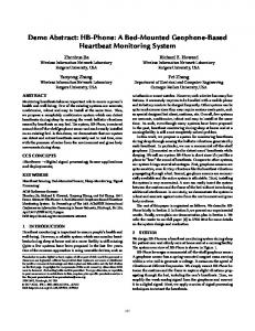 Demo Abstract: HB-Phone: A Bed-Mounted ... - ACM Digital Library