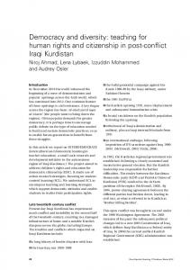 Democracy and diversity: teaching for human rights ... - IngentaConnect