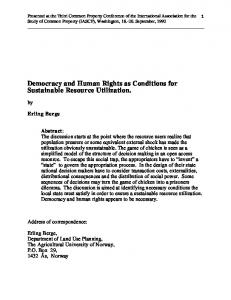 Democracy and Human Rights - CiteSeerX