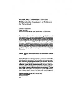 DEMOCRACY AND PROSTITUTION Deliberating the ... - CiteSeerX