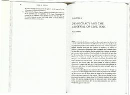 democracy and the renewal of civilwar - Department of Political