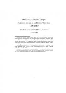 Democracy Comes to Europe: Franchise Extension ...