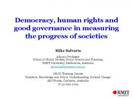 Democracy, human rights and good governance in measuring the ...