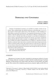 democracy over Governance - SciELO