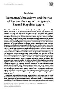 Democracy's breakdown and the rise of fascism: the ...