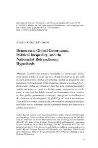 Democratic Global Governance, Political Inequality, and the ...