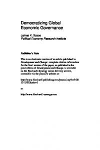 Democratizing Global Economic Governance - CiteSeerX