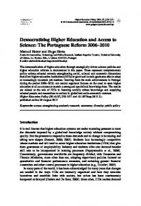 Democratizing Higher Education and Access to ... - IngentaConnect