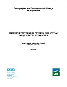 Demographic and Socioeconomic Change in Appalachia CHANGING ...