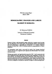 DEMOGRAPHIC CHANGES AND LABOUR MARKET IN ROMANIA