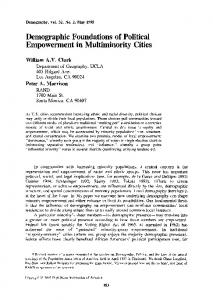 Demographic Foundations of Political Empowerment in Multiminority ...