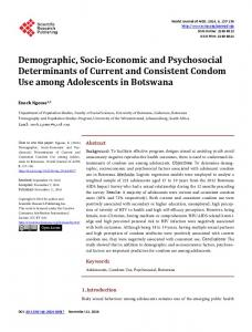 Demographic, Socio-Economic and Psychosocial Determinants of ...