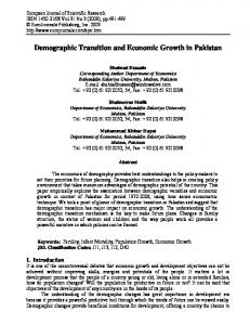 Demographic Transition and Economic Growth in ...