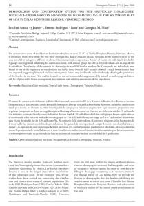 demography and conservation status for the