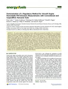 Demonstration of a Regulatory Method for Aircraft ... - ACS Publications
