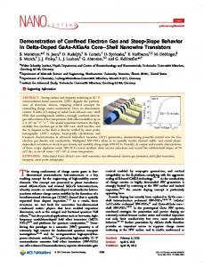 Demonstration of Confined Electron Gas and ... - ACS Publications