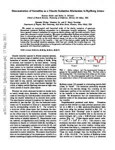 Demonstration of Turnstiles as a Chaotic Ionization Mechanism in ...