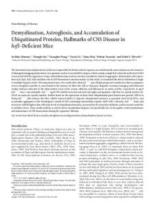 Demyelination, Astrogliosis, and Accumulation of ... - Semantic Scholar
