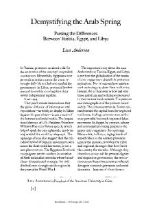 Demystifying the Arab Spring - Division of Social Sciences