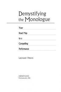 Demystifying the Monologue - Heinemann