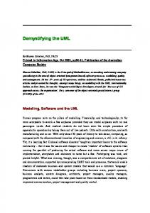 Demystifying the UML