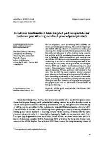 Dendrimer functionalized folate-targeted gold nanoparticles for